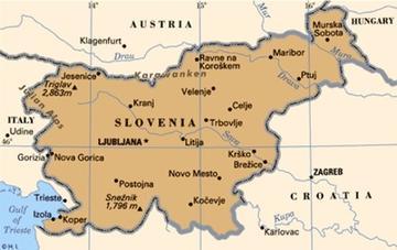Cartina Stradale Della Slovenia.Slovenia